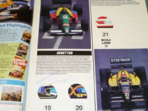 AUTOSPORT 1988 British GP Guide - SIGNED Palmer, Johansson etc